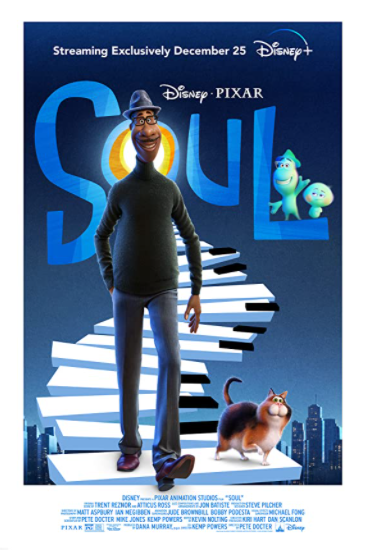 The poster for Disney and Pixar's new movie Soul, which features Jamie Foxx as Joe Gardner and Tina Fey as Soul 22.