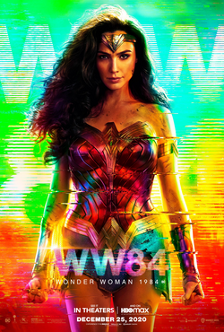 This is the official movie poster for Wonder Woman 1984