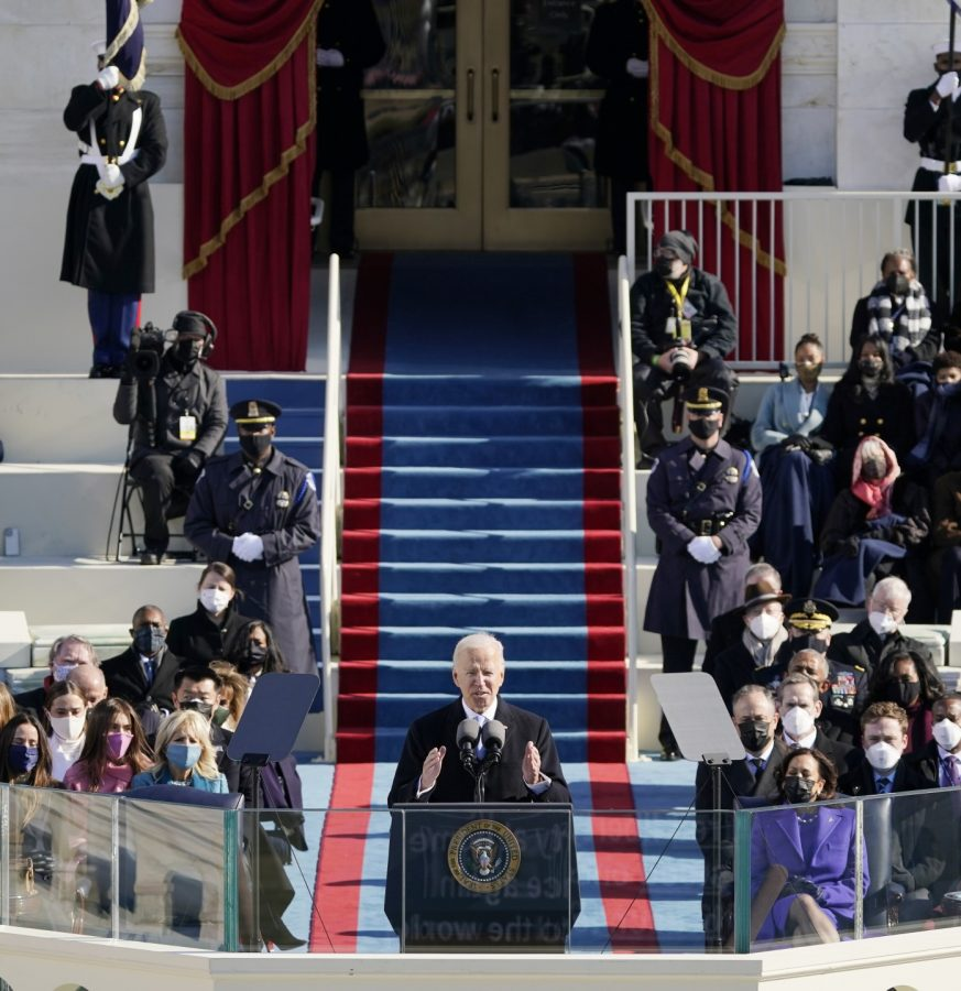 President Joe Biden speaks during the 46th Presidential Inauguration on Wednesday January 20th, 2021