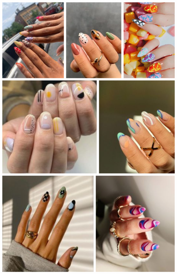 Pictures of popular nail decor ideas.