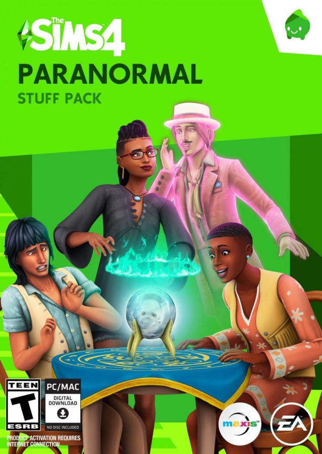 The cover art for the newest pack, The Sims 4 Paranormal Stuff.