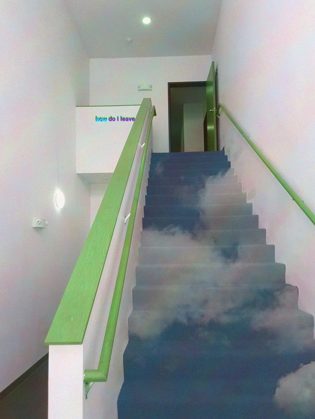 The stairs of familiarity displayed through pure imagination