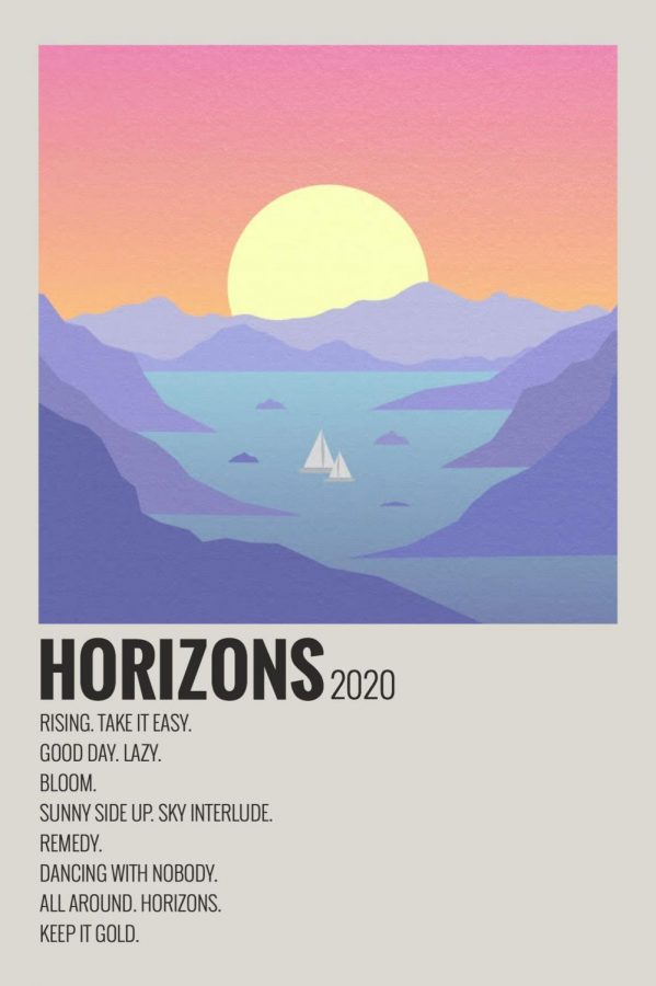 The cover art for Surfaces's Horizon album