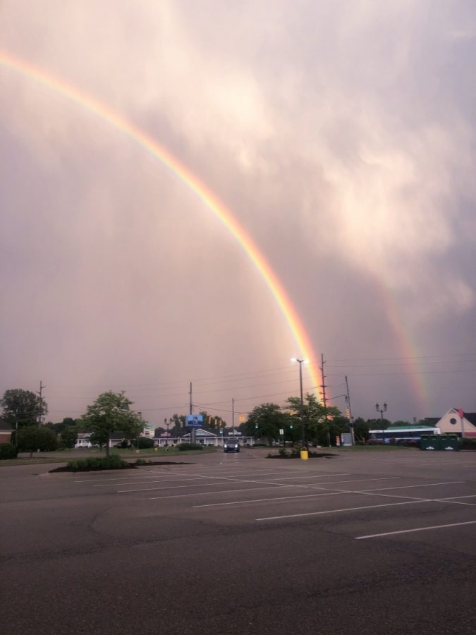 A rainbow outside D&W this past summer that I can't stop writing about