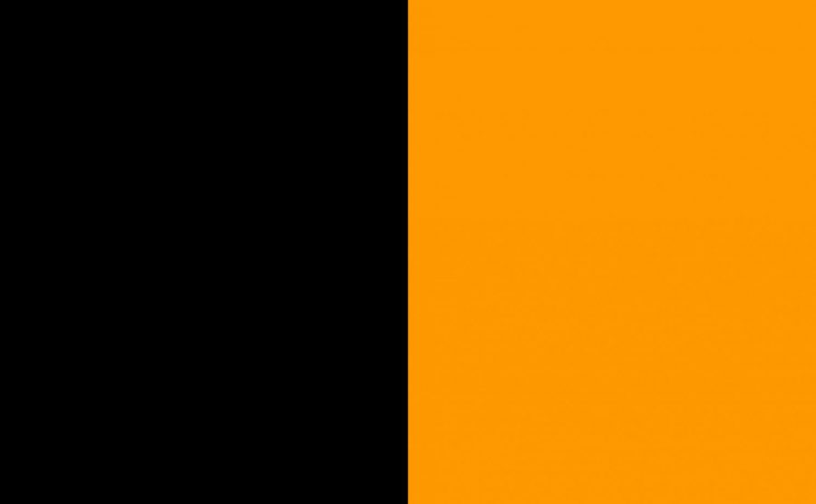 The+super+straight+flag+consists+of+black+and+orange+side+by+side.