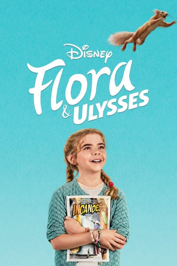 The official Disney+ movie poster for original Flora and Ulysses