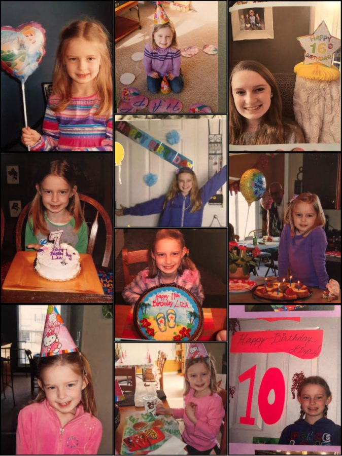 Many of my birthdays throughout the years