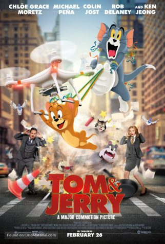 The movie poster of Tom and Jerry: The Movie featuring some of the cast