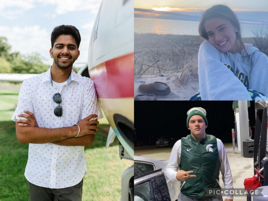 Sukhpreet Singh (left), Eden Growney (top right), and Sam Tuori (bottom right).