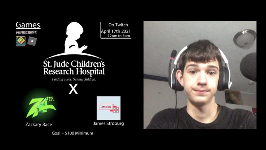 Zack Race has raised over a hundred dollars for St. Jude's Children's Research Hospital through Twitch streaming