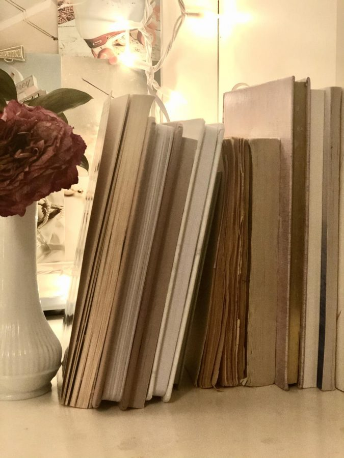 My many unfinished journals that haunt me with there blank pages