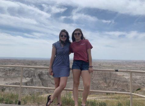 Remmie Gavle (right) visiting South Dakota with her friend, junior Kenzie Davis (left).