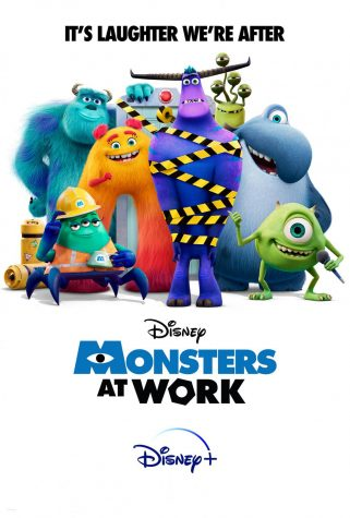 The poster of Monsters at Work includes a mix of old and new faces to Disney fans.