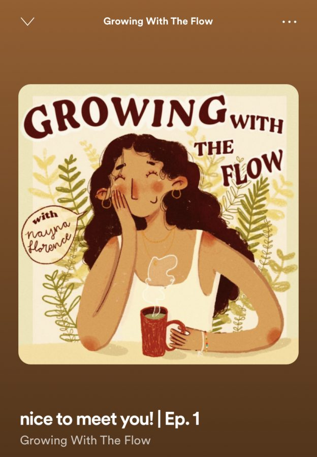 The cover art for Nayna Florences podcast, Growing With The Flow, is what initially drew me in.