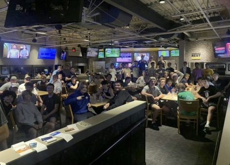 Here is the entire FHC Wing Club during their first meeting at Buffalo Wild Wings.