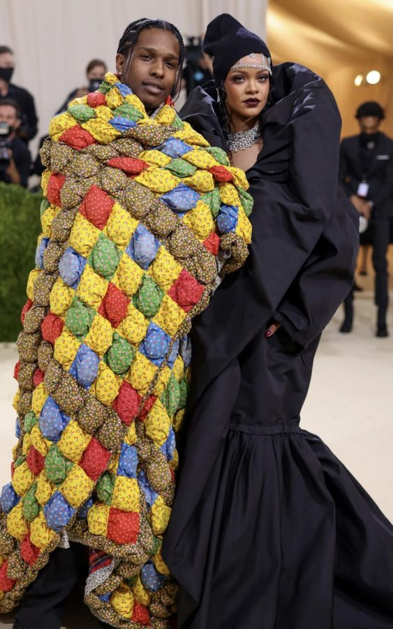 Rihanna and A$AP Rocky  arriving fashionably late to the 2021 Met Gala
