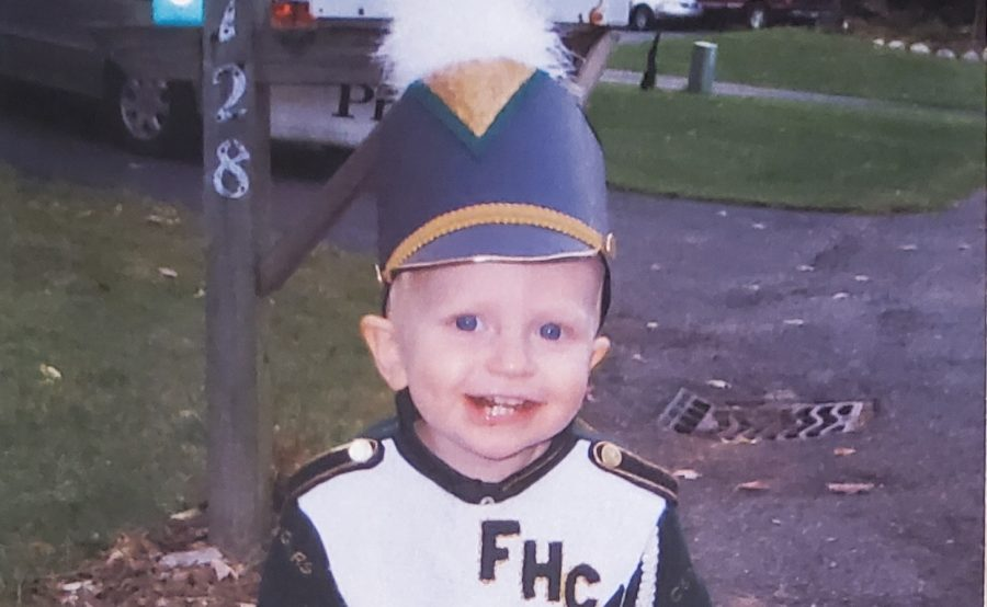 Jake, four years old, happily wearing the costume his mother made for him at FHCs Bandtasia