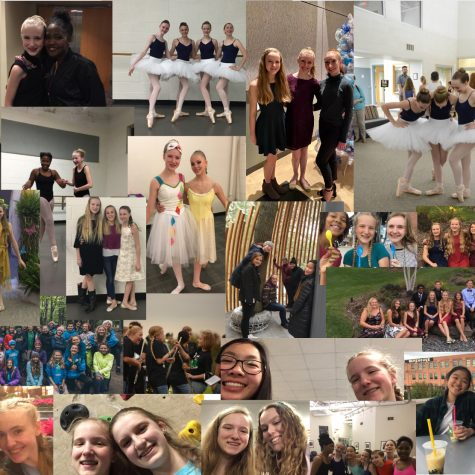 A collage of my friends I have made in the past