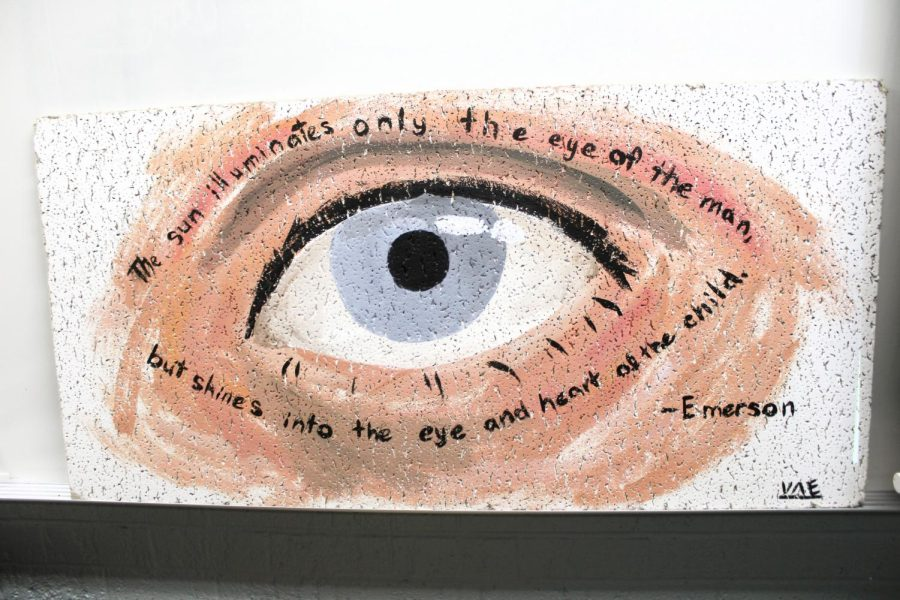 Honors English 10 Ceiling Tiles: Photo Gallery