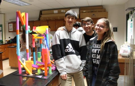 A group of physics students during one of the exciting experiments.