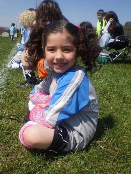 Me, at age four, at a soccer game for a team I played with for one year. I havent played since.