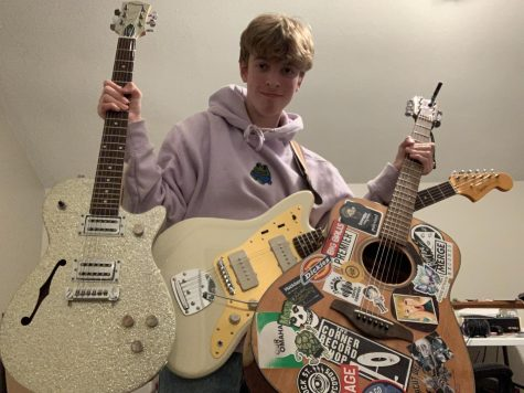 Here is Ted Weaver with his aforementioned collection of sick guitars.