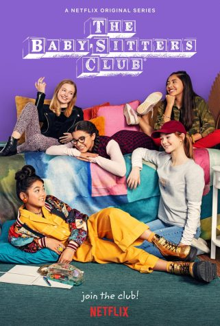 The cover photo displays the five main babysitters in The Baby-Sitters Club.