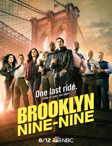 This is the poster teasing the eighth and final season of Brooklyn Nine-Nine.
